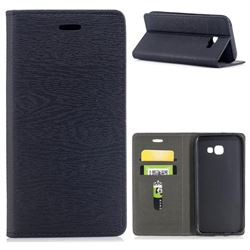 Tree Bark Pattern Automatic suction Leather Wallet Case for Samsung Galaxy A5 2017 A520 - Black