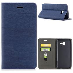 Tree Bark Pattern Automatic suction Leather Wallet Case for Samsung Galaxy A5 2017 A520 - Blue