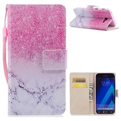 Marble Powder PU Leather Wallet Case for Samsung Galaxy A5 2017 A520