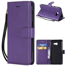Retro Greek Classic Smooth PU Leather Wallet Phone Case for Samsung Galaxy A5 2017 A520 - Purple