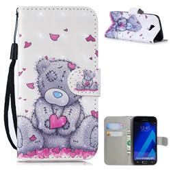 Love Panda 3D Painted Leather Wallet Phone Case for Samsung Galaxy A5 2017 A520