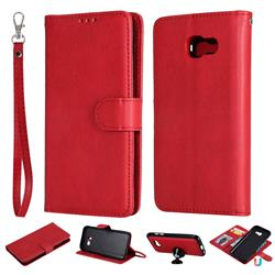 Retro Greek Detachable Magnetic PU Leather Wallet Phone Case for Samsung Galaxy A5 2017 A520 - Red
