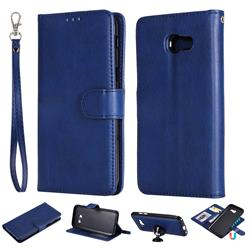 Retro Greek Detachable Magnetic PU Leather Wallet Phone Case for Samsung Galaxy A5 2017 A520 - Blue