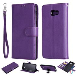 Retro Greek Detachable Magnetic PU Leather Wallet Phone Case for Samsung Galaxy A5 2017 A520 - Purple