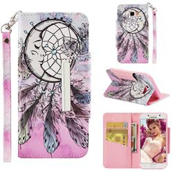 Angel Monternet Big Metal Buckle PU Leather Wallet Phone Case for Samsung Galaxy A5 2017 A520