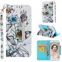Fotus Flower Big Metal Buckle PU Leather Wallet Phone Case for Samsung Galaxy A5 2017 A520