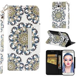 Phoenix Tail Big Metal Buckle PU Leather Wallet Phone Case for Samsung Galaxy A5 2017 A520