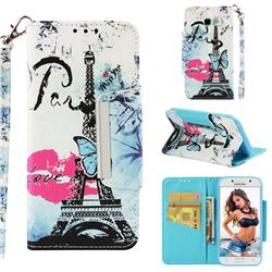 Lip Tower Big Metal Buckle PU Leather Wallet Phone Case for Samsung Galaxy A5 2017 A520