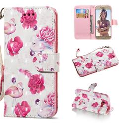 Flamingo 3D Painted Leather Wallet Phone Case for Samsung Galaxy A5 2017 A520