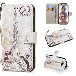 Tower Couple 3D Painted Leather Wallet Phone Case for Samsung Galaxy A5 2017 A520