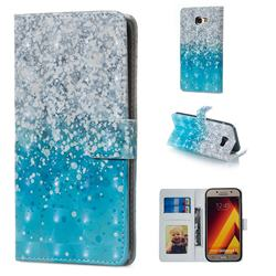 Sea Sand 3D Painted Leather Phone Wallet Case for Samsung Galaxy A5 2017 A520