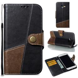 Retro Magnetic Stitching Wallet Flip Cover for Samsung Galaxy A5 2017 A520 - Dark Gray