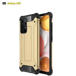 King Kong Armor Premium Shockproof Dual Layer Rugged Hard Cover for Samsung Galaxy A52 5G - Champagne Gold