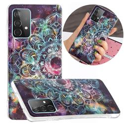 Datura Flowers Noctilucent Soft TPU Back Cover for Samsung Galaxy A52 5G