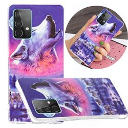 Wolf Howling Noctilucent Soft TPU Back Cover for Samsung Galaxy A52 5G