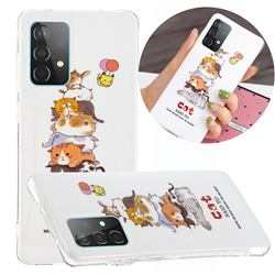 Cute Cat Noctilucent Soft TPU Back Cover for Samsung Galaxy A52 5G