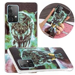 Wolf King Noctilucent Soft TPU Back Cover for Samsung Galaxy A52 5G