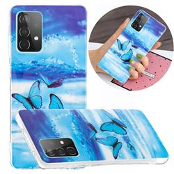 Flying Butterflies Noctilucent Soft TPU Back Cover for Samsung Galaxy A52 5G