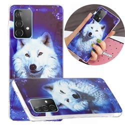Galaxy Wolf Noctilucent Soft TPU Back Cover for Samsung Galaxy A52 5G