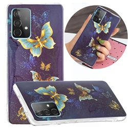 Golden Butterflies Noctilucent Soft TPU Back Cover for Samsung Galaxy A52 5G