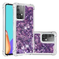 Dynamic Liquid Glitter Sand Quicksand Star TPU Case for Samsung Galaxy A52 (4G, 5G) - Purple