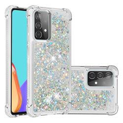 Dynamic Liquid Glitter Sand Quicksand Star TPU Case for Samsung Galaxy A52 (4G, 5G) - Silver