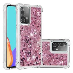 Dynamic Liquid Glitter Sand Quicksand Star TPU Case for Samsung Galaxy A52 (4G, 5G) - Diamond Rose