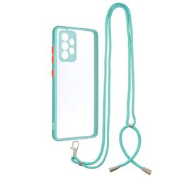 Necklace Cross-body Lanyard Strap Cord Phone Case Cover for Samsung Galaxy A52 (4G, 5G) - Blue