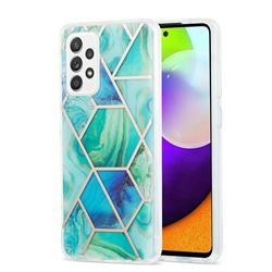 Green Glacier Marble Pattern Galvanized Electroplating Protective Case Cover for Samsung Galaxy A52 (4G, 5G)