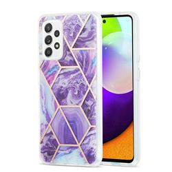 Purple Gagic Marble Pattern Galvanized Electroplating Protective Case Cover for Samsung Galaxy A52 (4G, 5G)