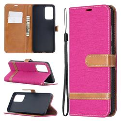 Jeans Cowboy Denim Leather Wallet Case for Samsung Galaxy A52 5G - Rose