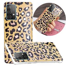 Leopard Galvanized Rose Gold Marble Phone Back Cover for Samsung Galaxy A52 5G