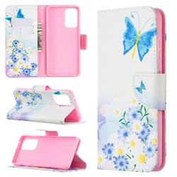 Butterflies Flowers Leather Wallet Case for Samsung Galaxy A52 (4G, 5G)