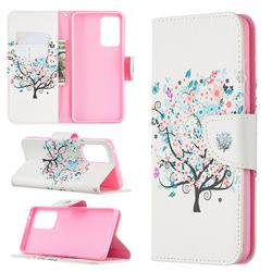 Colorful Tree Leather Wallet Case for Samsung Galaxy A52 (4G, 5G)
