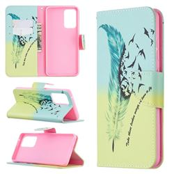 Feather Bird Leather Wallet Case for Samsung Galaxy A52 (4G, 5G)