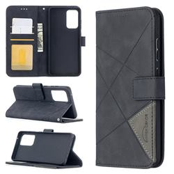 Binfen Color BF05 Prismatic Slim Wallet Flip Cover for Samsung Galaxy A52 (4G, 5G) - Black