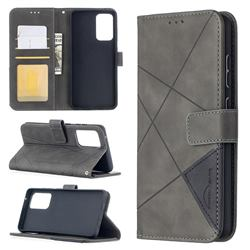 Binfen Color BF05 Prismatic Slim Wallet Flip Cover for Samsung Galaxy A52 (4G, 5G) - Gray