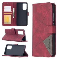 Binfen Color BF05 Prismatic Slim Wallet Flip Cover for Samsung Galaxy A52 (4G, 5G) - Red