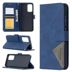 Binfen Color BF05 Prismatic Slim Wallet Flip Cover for Samsung Galaxy A52 (4G, 5G) - Blue