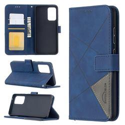 Binfen Color BF05 Prismatic Slim Wallet Flip Cover for Samsung Galaxy A52 (4G, 5G) - Blue
