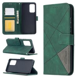 Binfen Color BF05 Prismatic Slim Wallet Flip Cover for Samsung Galaxy A52 (4G, 5G) - Green