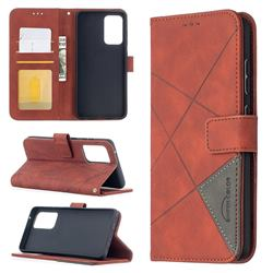Binfen Color BF05 Prismatic Slim Wallet Flip Cover for Samsung Galaxy A52 (4G, 5G) - Brown