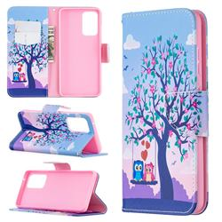 Tree and Owls Leather Wallet Case for Samsung Galaxy A52 (4G, 5G)