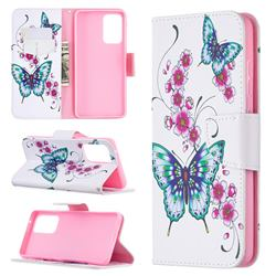 Peach Butterflies Leather Wallet Case for Samsung Galaxy A52 (4G, 5G)