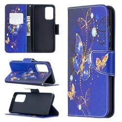Purple Butterfly Leather Wallet Case for Samsung Galaxy A52 (4G, 5G)