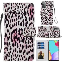 Leopard Smooth Leather Phone Wallet Case for Samsung Galaxy A52 (4G, 5G)