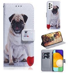 Pug Dog PU Leather Wallet Case for Samsung Galaxy A52 (4G, 5G)