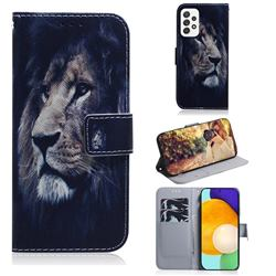 Lion Face PU Leather Wallet Case for Samsung Galaxy A52 (4G, 5G)