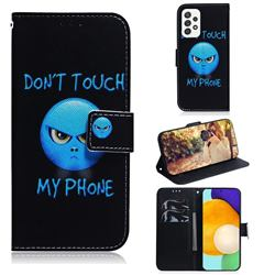 Not Touch My Phone PU Leather Wallet Case for Samsung Galaxy A52 (4G, 5G)