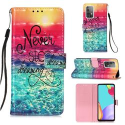 Colorful Dream Catcher 3D Painted Leather Wallet Case for Samsung Galaxy A52 (4G, 5G)